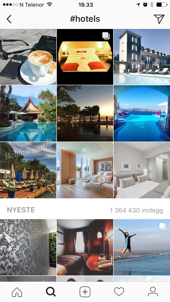 Favoritt hoteller på Instagram