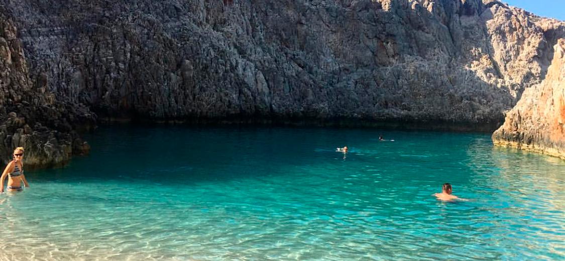 Seitan Limania-stranden på Kreta