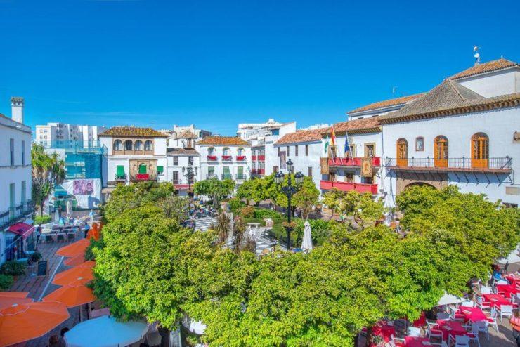 Bildet av gamlebyen i Marbella
