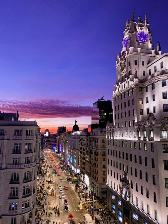 Gran Via - Her bør du bo hvis du reiser til Madrid med barn