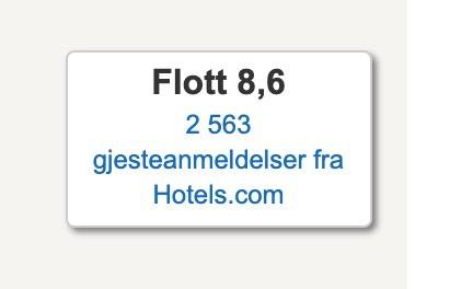 Eksempel: Gjesteanmeldelser fra Hotels.com