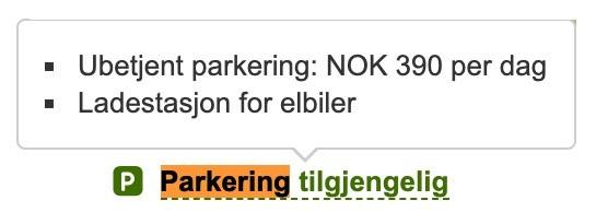 Eksempel på tilgjengelig parkering
