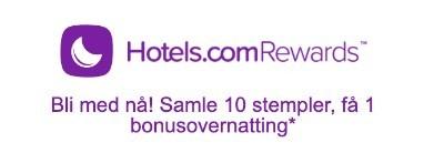 Eksempel på lojalitetsprogram Hotels.com
