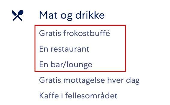 Et dårlig restaurant-tilbud på familiehotellet