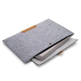 Ullfilt datamaskinveske til Macbook Air 13 tumgrå