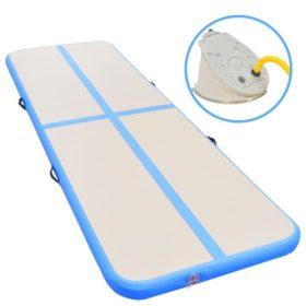 vidaXL Oppblåsbar gymnastikkmatte med pumpe 600x100x10 cm PVC