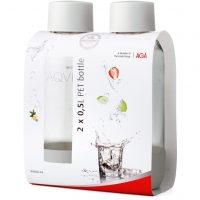 Aqvia Aga PET-Flaske 0,5 l Duopack Hvit