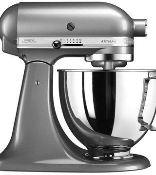 Artisan 125 Kjøkkenmaskin 4,8 liter Contour Sølv