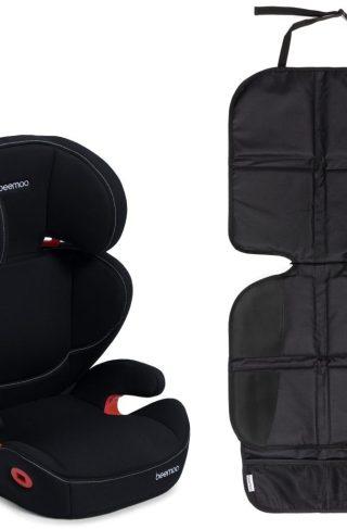 Beemoo Beltestol Isofix og Sparketrekk Lux, Black