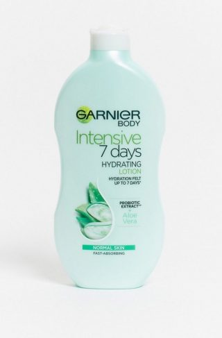 Garnier Intensive 7 Days Aloe Vera Probiotic Extract Body Lotion Normal Skin 400ml-No Colour