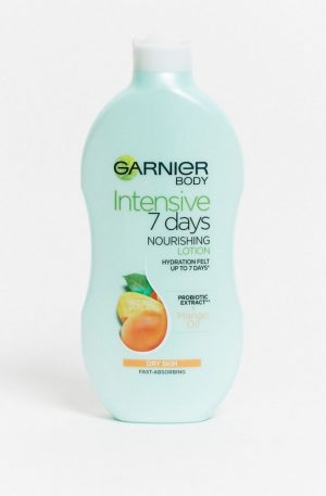 Garnier Intensive 7 Days Mango Probiotic Extract Body Lotion Dry Skin 400ml-No Colour