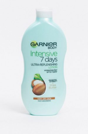Garnier Intensive 7 Days Shea Butter Probiotic Extract Body Lotion Dry Skin 400ml-No Colour