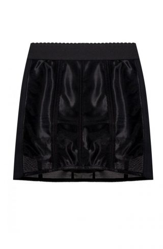 High-waisted short skirt