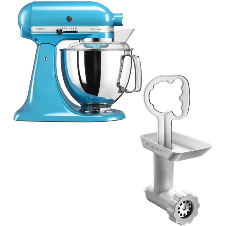 KitchenAid Artisan 175 Crystal Blue + Kjøttkvern FGA