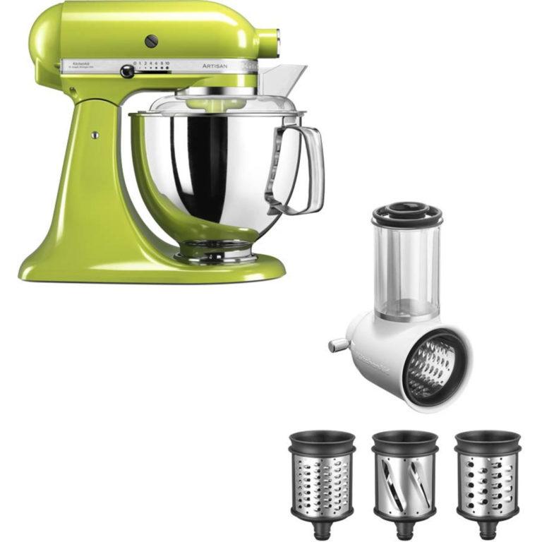 KitchenAid Artisan 175 Eplegrønn + Grønnsaksskjærer 5KSMVSA