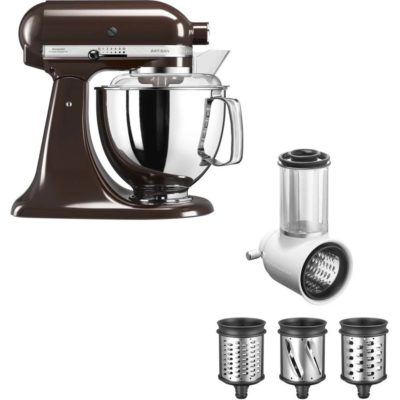 KitchenAid Artisan 175 Espressobrun + Grønnsaksskjærer 5KSMVSA