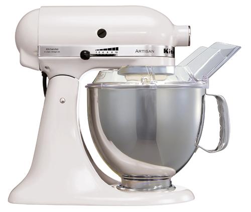 KitchenAid Artisan Kjøkkenmaskin Hvit - 4,8 + 3 liter