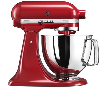 KitchenAid Artisan Kjøkkenmaskin rød metallic 4,8 + 3 liter.