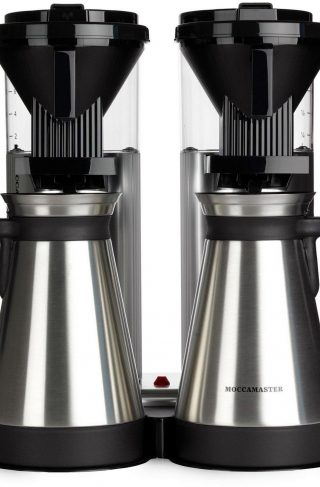 Moccamaster Kaffetrakter Duo CDGT20 Polished Silver