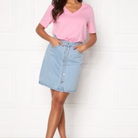 ONLY Farrah Life Reg Skirt Light Blue Denim 34