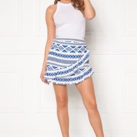 ONLY Lucca Wrap Skirt White, AOP CD/Dazzli 36