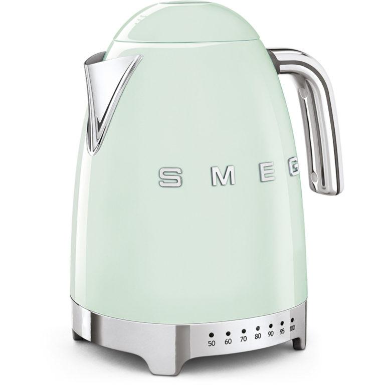 Smeg Vannkoker 1,7 l Pastellgrønn Temperatur Kontroll