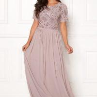 AngelEye Sequin Bodice Maxi Dress Mink S (UK10)