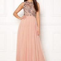 AngelEye Sleeveless Sequin Dress Taupe L (UK14)