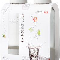 Aqvia Vandflaske PET 500 ml. 2 stk. Hvid