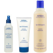 Aveda Brilliant Trio- Shampoo, Conditioner & Hair Spray