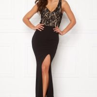 BUBBLEROOM Florence lace top prom dress Black 34