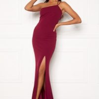 BUBBLEROOM Lilith one shoulder gown Wine-red 38