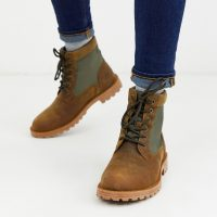 Barbour Cheviot leather weather comfort waterproof boots in tan