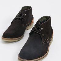 Barbour Kalahari suede boots in dark brown
