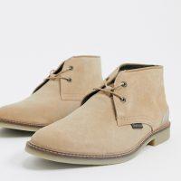 Barbour Kalahari suede boots in stone