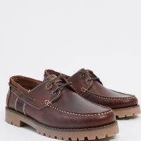 Barbour Stern leather shoes in brown