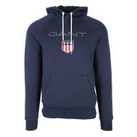 Blå Gant Shield Hood Genser