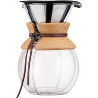 Bodum Pour Over Dobbelvegg Kork med Filter 1 l