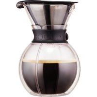Bodum Pour Over Dobbelvegg Svart med Filter 1 l