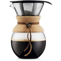 Bodum Pour Over Kork med Filter 1,0 l