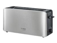Bosch ComfortLine TAT6A803 - Brødrister - 2 skive - 1 Spor - rustfritt stål / svart