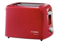 Bosch CompactClass TAT3A014 - Brødrister - 2 skive - 2 Spor - rød/lys blå