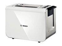Bosch Styline TAT8611 - Brødrister - elektrisk - 2 skive - hvit/antrasitt