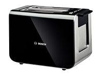 Bosch Styline TAT8613 - Brødrister - elektrisk - 2 skive - svart