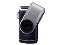 Braun MobileShave PocketGo M90, Blå, Sølv, Batteri, 60 timer, 180 g, 38 mm, 79 mm