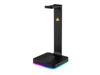 CORSAIR Gaming ST100 RGB Premium Headset Stand - Lydkort - 16-bit - 48 kHz - stereo - USB 3.1 Gen 1