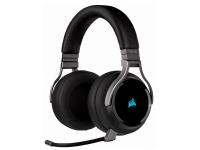 CORSAIR Gaming VIRTUOSO RGB - Headset - fuld størrelse - 2,4 GHz - trådløs - USB / 3,5 mm jackstik - Carbon (Black)