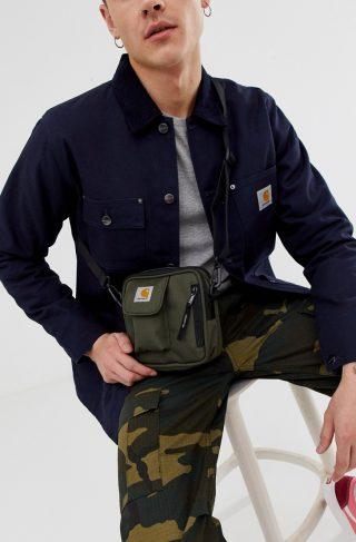 Carhartt WIP Essentials small flight bag in cypress green