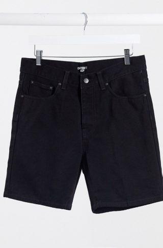 Carhartt WIP Newel denim short in black