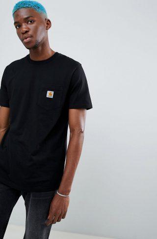 Carhartt WIP Pocket t-shirt in regular fit-Black